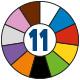 Schattenwand 5S Farbkreis